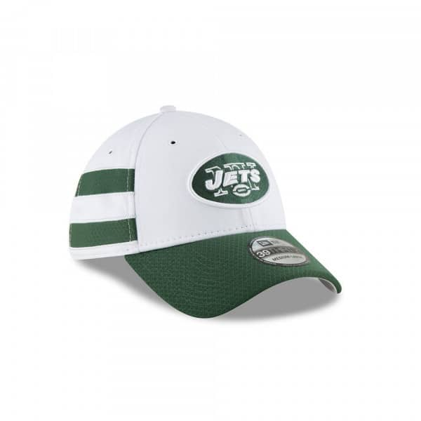 official photos 05cd4 0cb70 New Era New York Jets 2018 NFL Sideline 39THIRTY Flex Cap Home Alternate  White   TAASS.com Fan Shop
