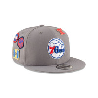 quality design e779b 37345 Philadelphia 76ers 2018 NBA Draft 9FIFTY Snapback Cap Storm Grey