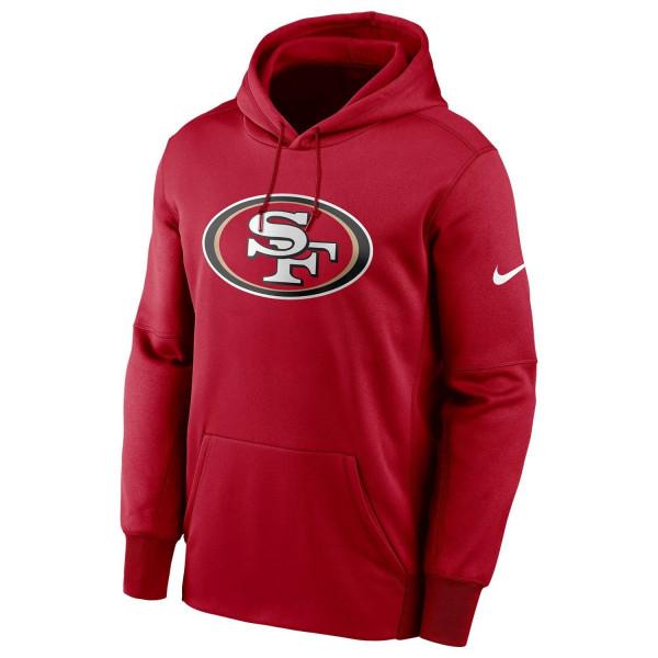 San Francisco 49ers Circuit Therma NFL Hoodie Sweatshirt Rot