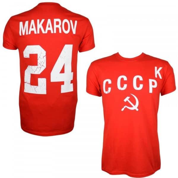 "CCCP Sowjetunion 1980 Sergei Makarov #24 ""K"" Eishockey T-Shirt"