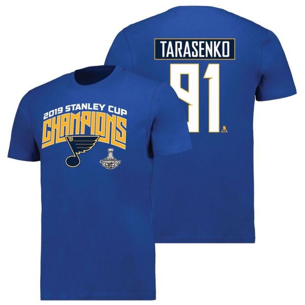 Vladimir Tarasenko #91 St. Louis Blues 2019 Stanley Cup Champs NHL T-Shirt