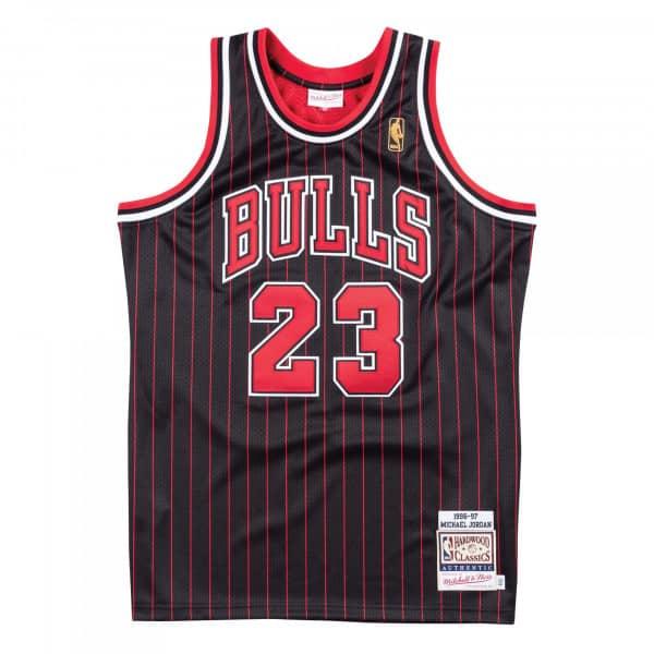 Michael Jordan #23 Chicago Bulls 1996-97 Authentic NBA Trikot Pinstripe