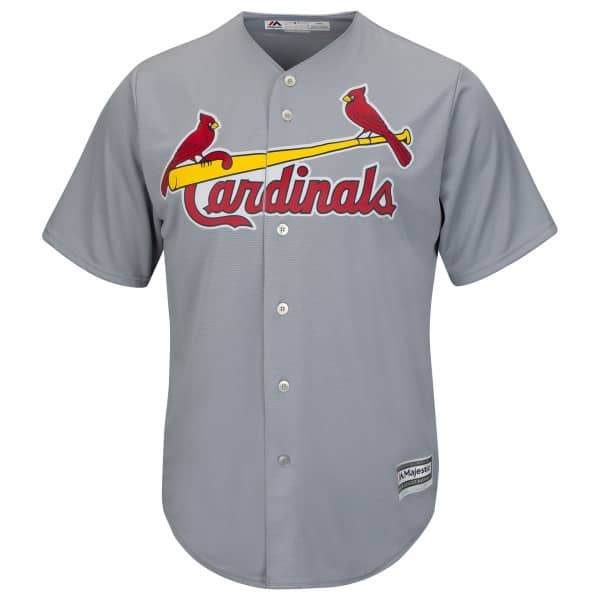 St. Louis Cardinals Cool Base MLB Trikot Road Grau