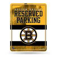 Boston Bruins Reserved Parking NHL Metallschild