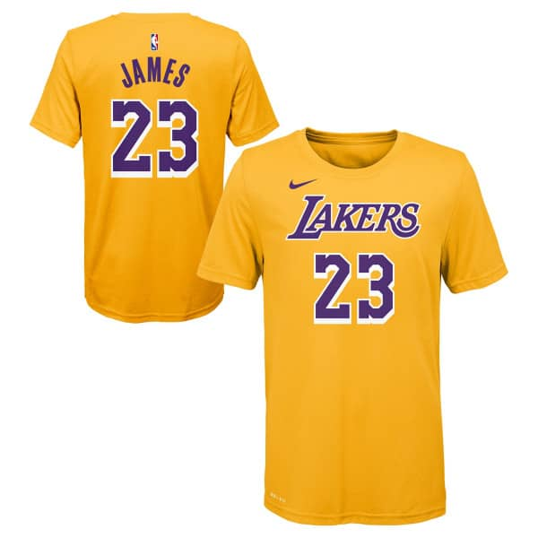LeBron James #23 Los Angeles Lakers Nike Player NBA T-Shirt (KINDER)