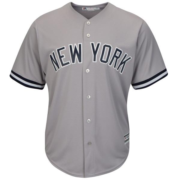 New York Yankees Cool Base MLB Trikot Road Grau