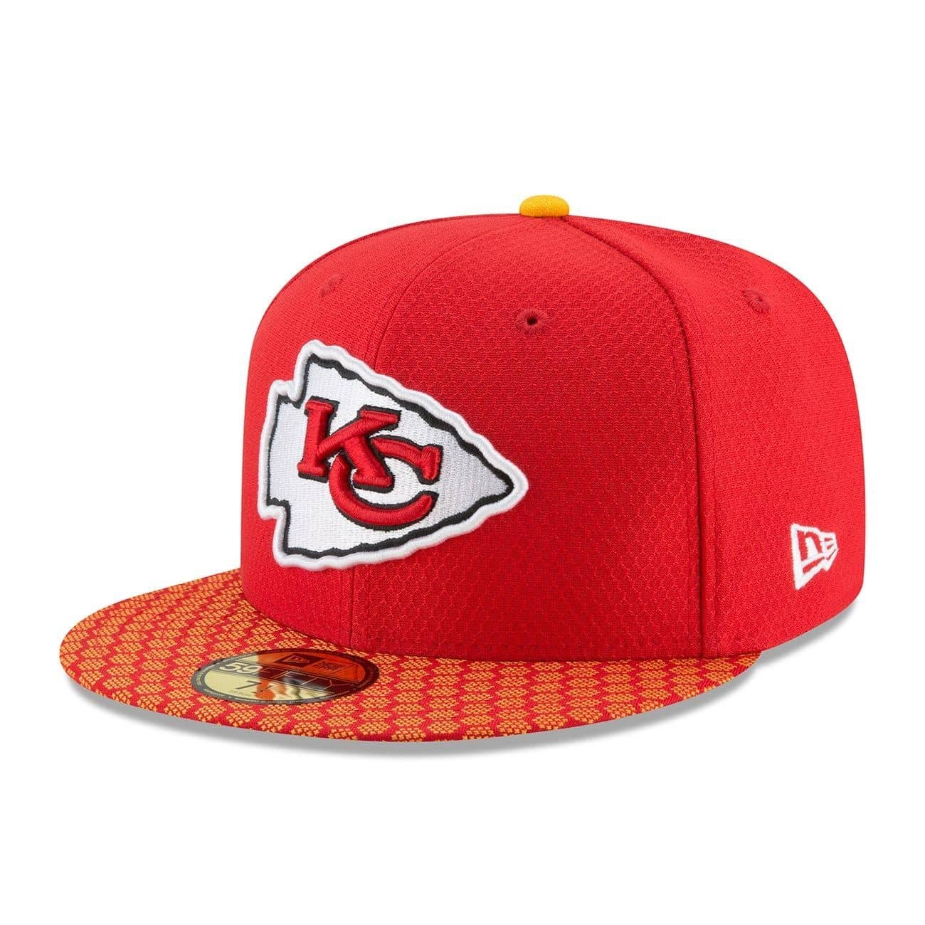 on sale a3620 7cb73 New Era Kansas City Chiefs 2017 Sideline ON-FIELD NFL 59FIFTY Fitted Cap    TAASS.com Fan Shop