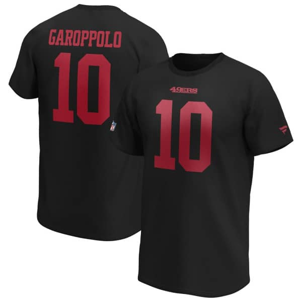 Jimmy Garoppolo #10 San Francisco 49ers Fanatics Player NFL T-Shirt Schwarz