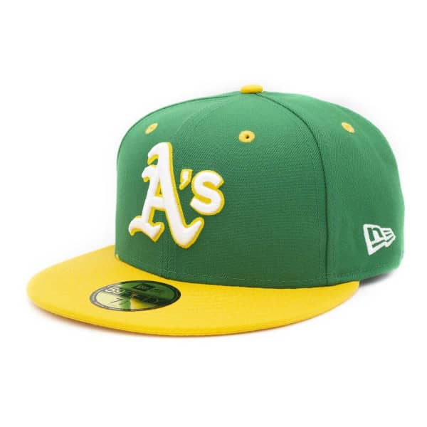 73157d7c New Era Oakland Athletics 2-Tone 59FIFTY Fitted MLB Cap Green-Yellow |  TAASS.com Fan Shop