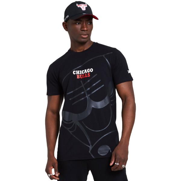 Chicago Bulls New Era Big Logo Gradient NBA T-Shirt