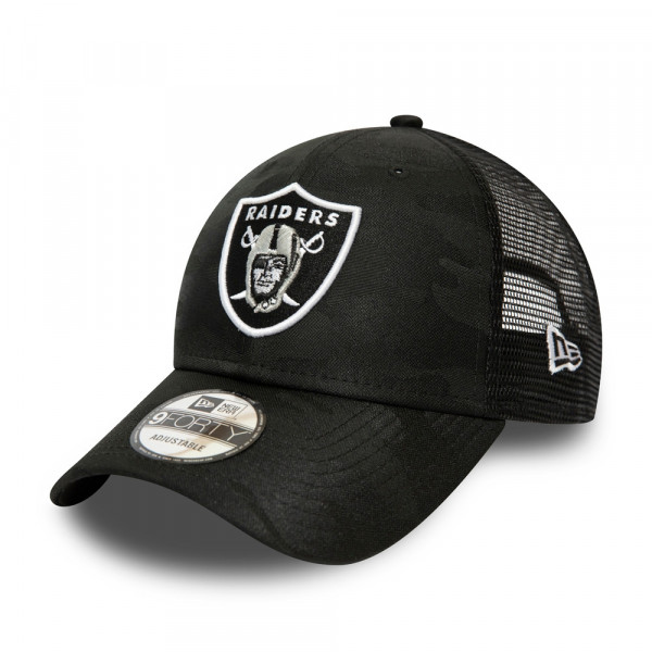 Las Vegas Raiders Black Camo Trucker New Era 9FORTY NFL Cap