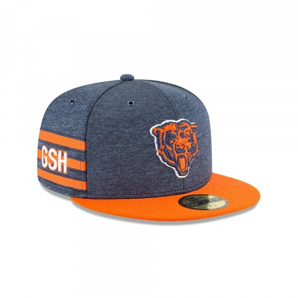 a7b186bb Chicago Bears 2018 NFL Sideline 59FIFTY Fitted Cap Home