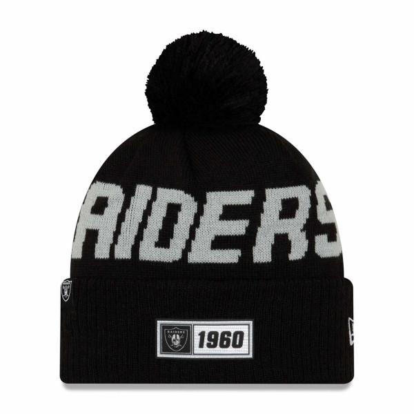 Las Vegas Raiders 2019 NFL Sideline Sport Knit Wintermütze Road