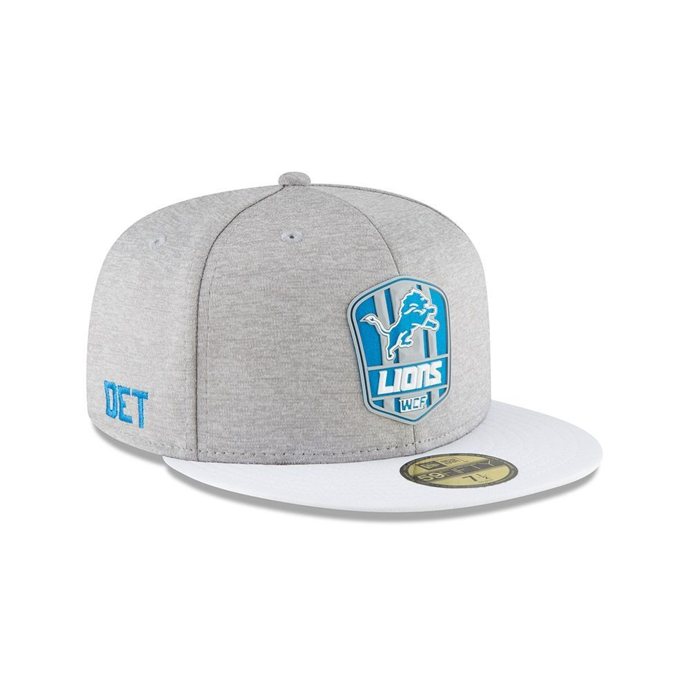 100% authentic 00fe9 e1406 New Era Detroit Lions 2018 NFL Sideline 59FIFTY Fitted Cap Road   TAASS.com  Fan Shop