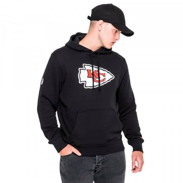 Kansas City Chiefs Logo Hoodie NFL Sweatshirt Schwarz
