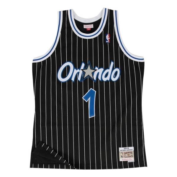 ac9e1b7495b9 Mitchell   Ness Penny Hardaway  1 Orlando Magic 1994-95 Swingman NBA Jersey  Black