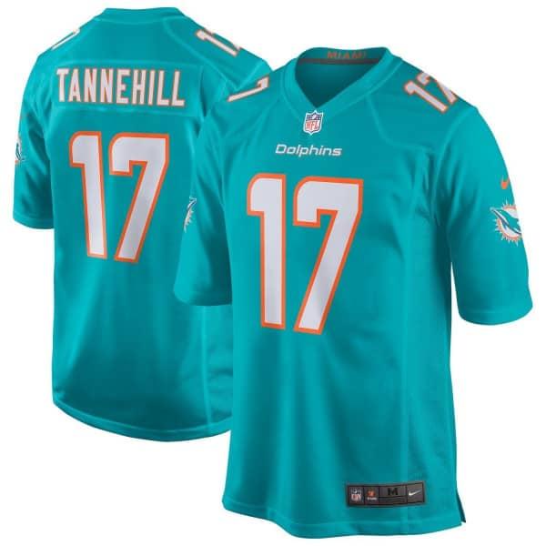Ryan Tannehill #17 Miami Dolphins Game Football NFL Trikot Aqua