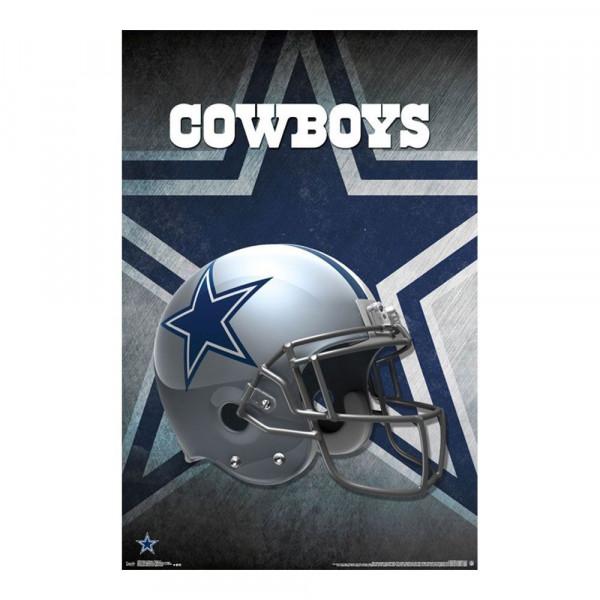 ea6eb7f2d50 Dallas Cowboys Helmet Football NFL Poster RP14985 | TAASS.com Fan Shop