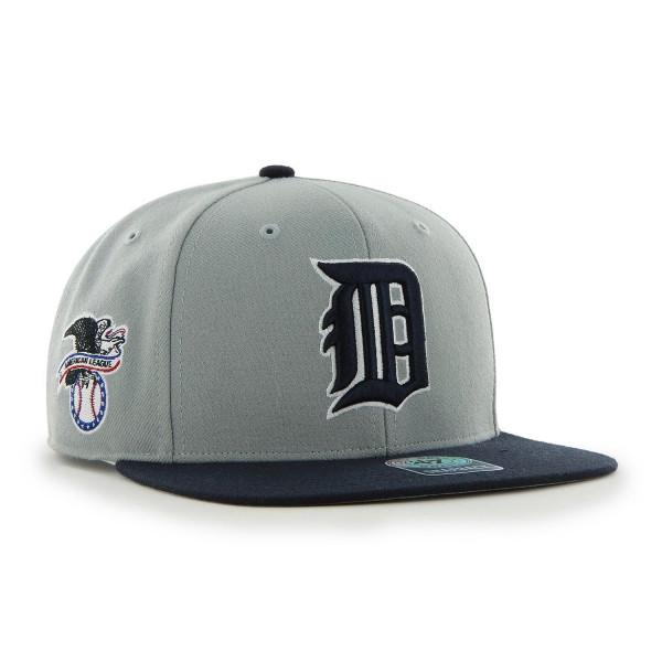 Detroit Tigers Two-Tone Sure Shot '47 Captain Snapback MLB Cap Grau