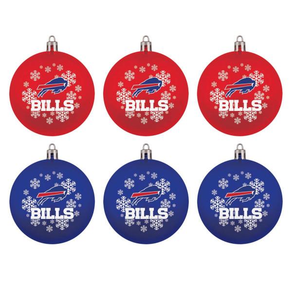 Buffalo Bills NFL Weihnachtskugeln Geschenk-Set (6-Teilig)