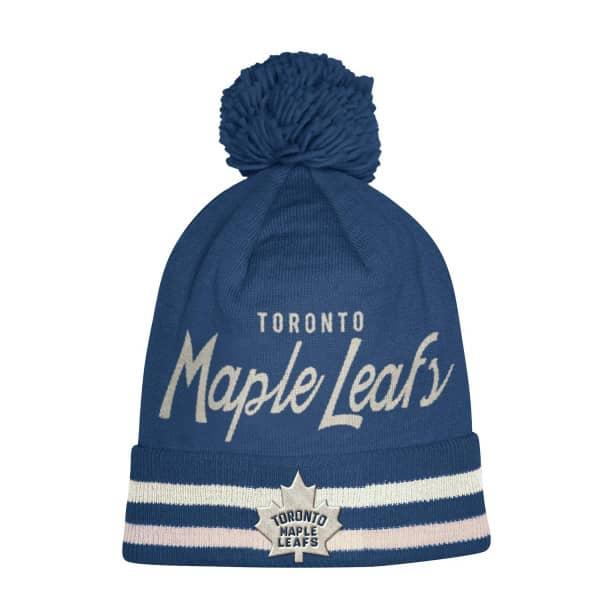 3138eb19ddb adidas Toronto Maple Leafs Cuffed Beanie Pom NHL Knit Hat