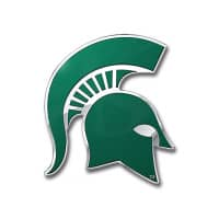 Michigan State Spartans Aluminium Color NCAA Team Emblem