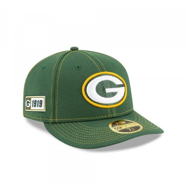 Green Bay Packers 2019 NFL On-Field Sideline Low Profile 59FIFTY Cap Road