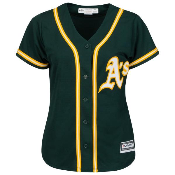 Oakland Athletics Cool Base MLB Trikot Alternate Grün (DAMEN)