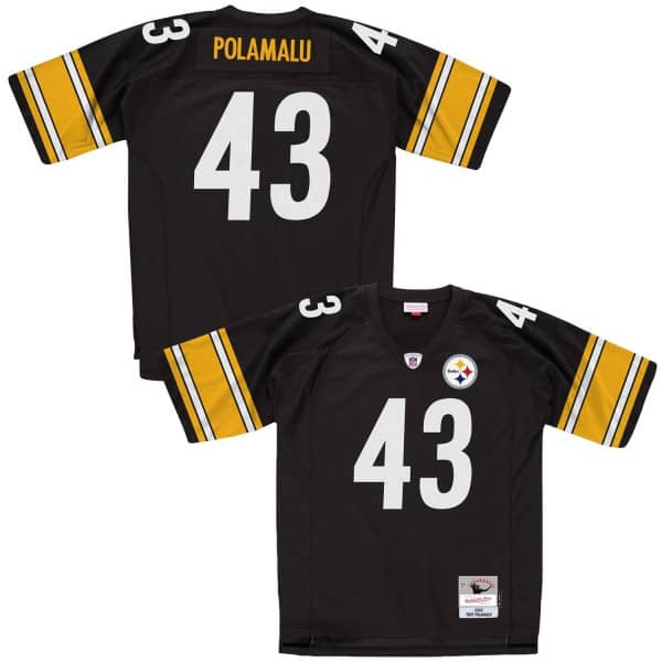 Troy Polamalu #43 Pittsburgh Steelers Legacy Throwback NFL Trikot