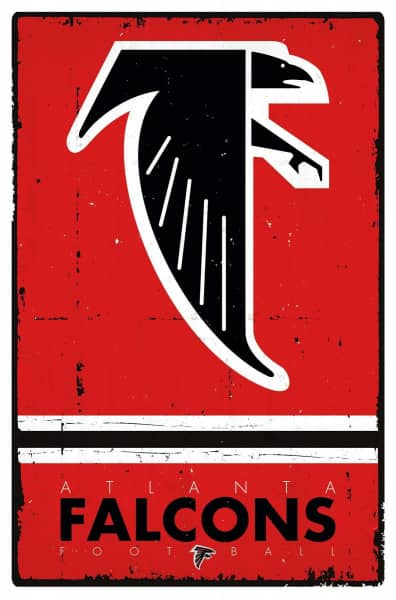 Atlanta Falcons Retro NFL Poster