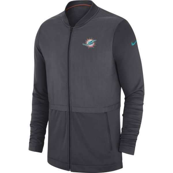Miami Dolphins Elite Hybrid Full-Zip Football NFL Trainingsjacke