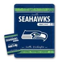 Seattle Seahawks Throwback NFL Metallschild & Magnet Set