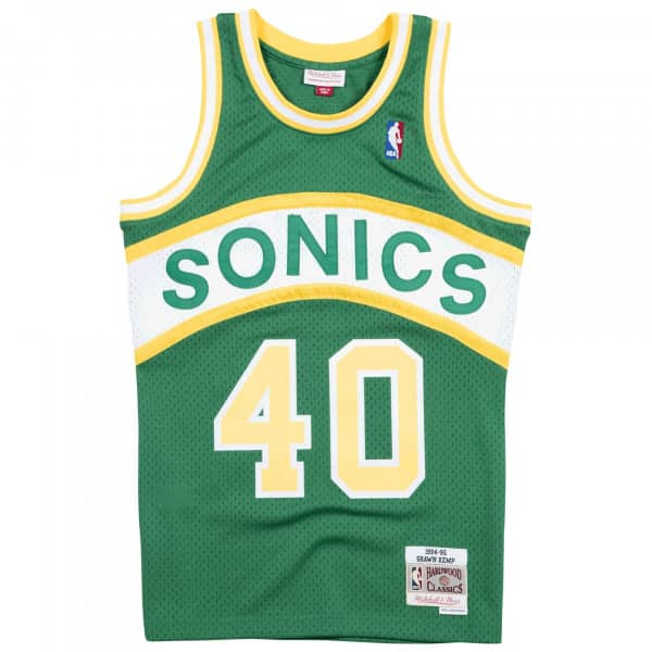 Shawn Kemp #40 Seattle SuperSonics 1994-95 Swingman NBA Trikot
