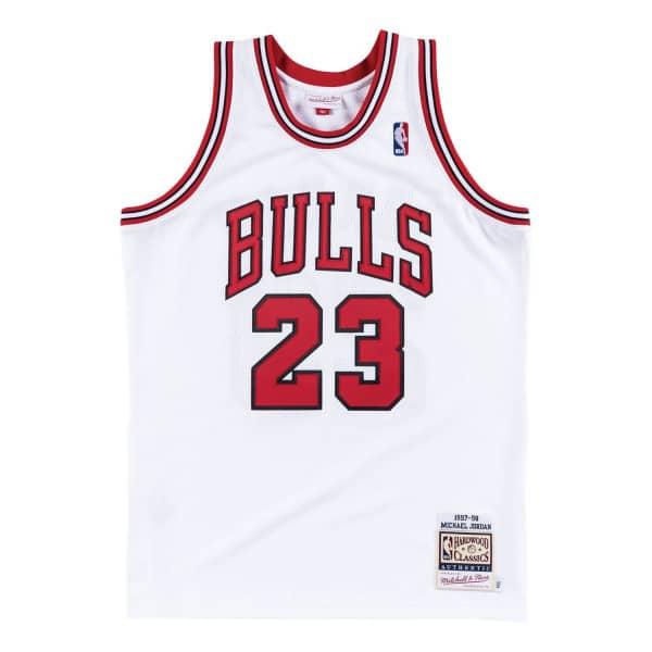Michael Jordan #23 Chicago Bulls 1997-98 Authentic NBA Trikot Weiß