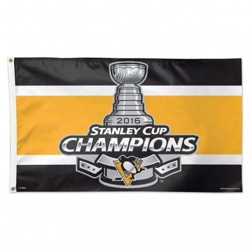 Pittsburgh Penguins 2016 Stanley Cup Champs NHL Hissfahne (150x90)