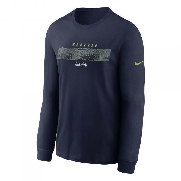 Seattle Seahawks Playbook Nike Long Sleeve NFL Shirt Navy