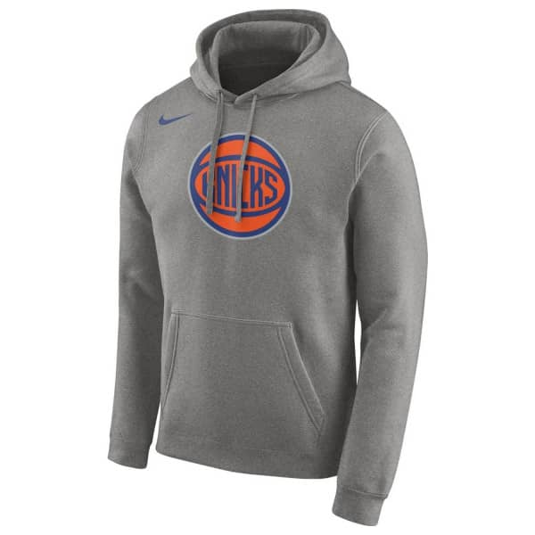 New York Knicks Team Logo NBA Hoodie Grau