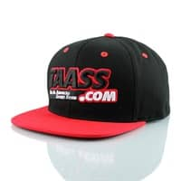 TAASS.com XL Logo 2-Tone Snapback Cap Schwarz/Rot