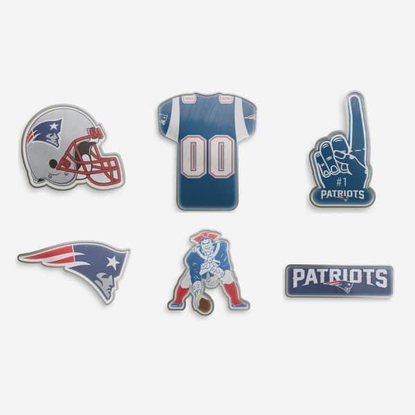 New England Patriots Teamlogo NFL Anstecker 6er Set