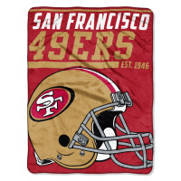 San Francisco 49ers Super Plush NFL Decke