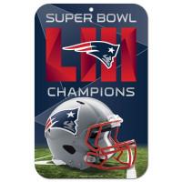 New England Patriots Super Bowl LIII Champions NFL Schild