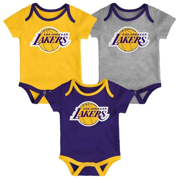 Los Angeles Lakers Team Logo NBA Kleinkinder Body-Set (3er-Pack)