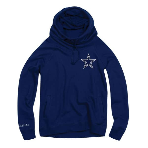 Dallas Cowboys Funnel Neck Pullover NFL Hoodie (DAMEN)