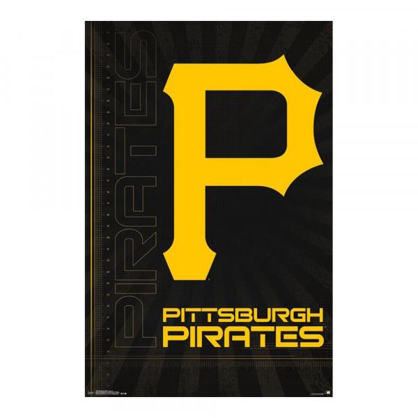 Pittsburgh Pirates Team Logo MLB Poster