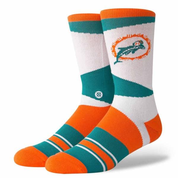 Nice Stance Miami Dolphins Retro NFL Socks   Fan Shop