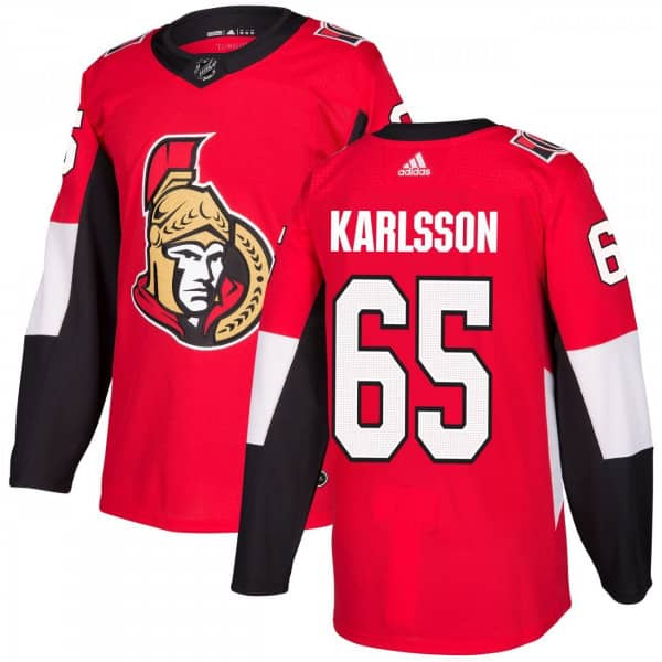 adidas Erik Karlsson  65 Ottawa Senators Authentic Pro NHL Jersey Home  55012672c