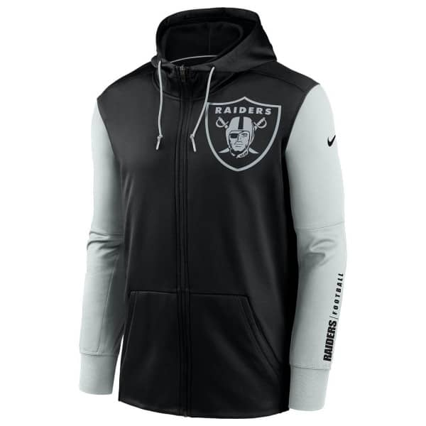 Las Vegas Raiders 2020 NFL Big Logo Nike Therma Full-Zip Hoodie