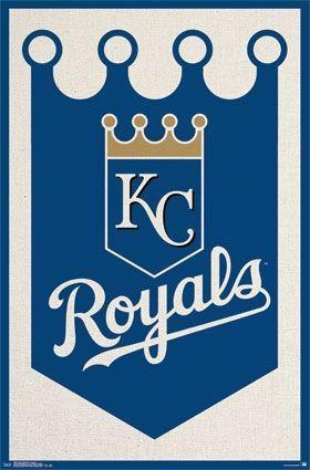 Kansas City Royals Team Logo Baseball MLB Poster RP13957
