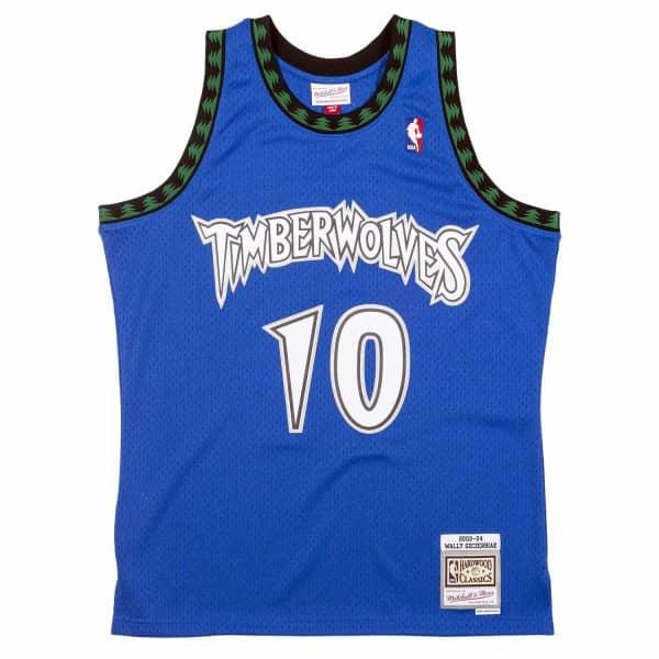 Wally Szczerbiak #10 Minnesota Timberwolves 2003-04 Swingman NBA Trikot Blau