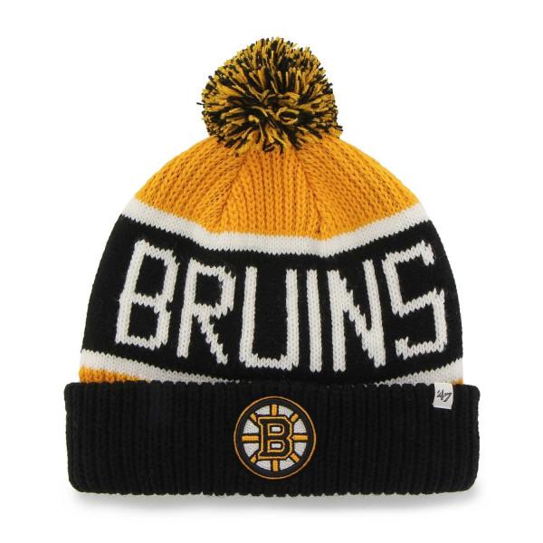 391b5d35936  47 Brand Boston Bruins Wraparound NHL Knit Hat w  Pom